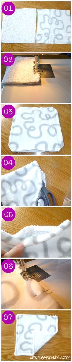 Learn how to make your own DIY Cloth Wipes!!! You can make a huge bunch of them in an hour or two! Pin this and save for later! You wont regret it - www.suggys.co.uk/Leanne