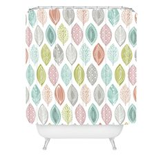 Wendy Kendall Leaf Pod Shower Curtain | DENY Designs Home Accessories