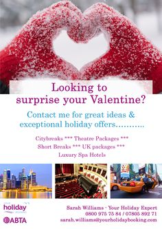 @valentines Valentines Day Cards Couple Looking for that SPECIAL trip this year?? From UK weekends away to something more exotic we can help!