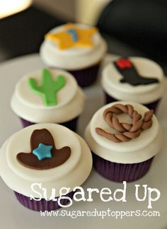 Rodeo Party // Cowboy Party // Cowboy Cupcakes...Could do girly ones :)