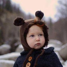 Evergreen Bonnet, is this not the cutest bonnet ever? Sweet Baby Bear.