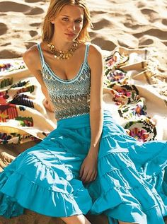 Beach wear... beautiful... love the style and colors