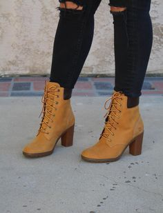 chunky timberland heels for women