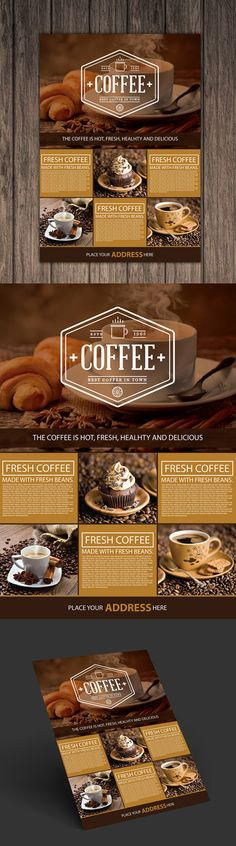 Coffee Shop A4 Flyer Template