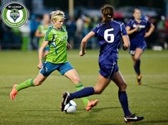 Megan Rapinoe in her first match as a Seattle Sounder, May 4, 2012