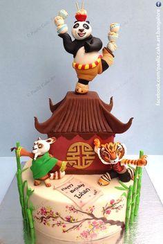 Torta di Kung Fu Panda in pasta di zucchero n.37