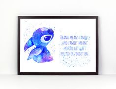 Lilo und Stitch bedeutet Ohana Familie Disney Fan von PuellaNest