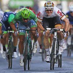 Andre Greipel beats Peter Sagan to win the final stage in Paris TDF2016 Photo Peter Dejong/AP