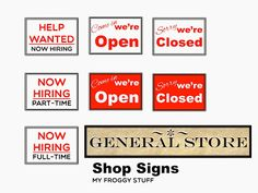 My Froggy Stuff: Our Little Doll General Store with Free Shop Signs Printable