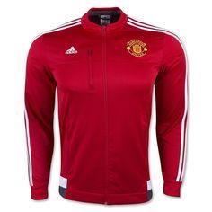 a1adaa05caa52 Manchester United 2015-2016 Season Anthem Jacket Red  B411  Football  Jackets