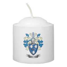 #customized - #Ferguson Family Crest Coat of Arms Votive Candle