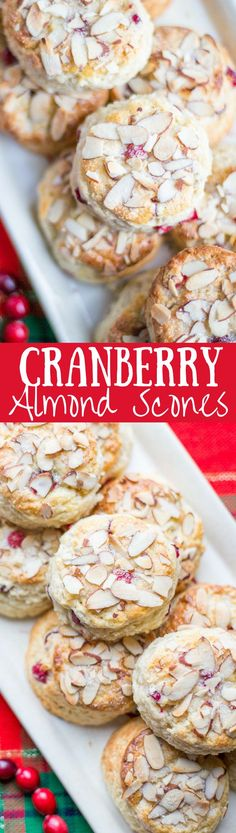 Cranberry Almond Scones - lightly sweet with a big almond flavor | www.savingdessert.com