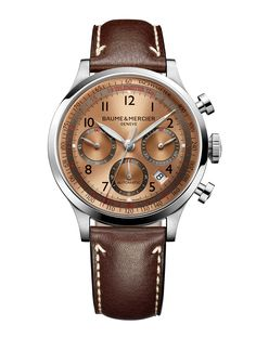 Discover the #Capeland 10004 automatic #chronograph watch for men, designed by #Baume et Mercier, #Swiss Watch Maker.