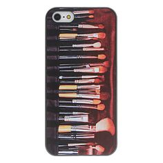 Make up Brushes Set Pattern PC Hard Case with Interior Matte Protection for iPhone 5/5S – USD $ 2.99
