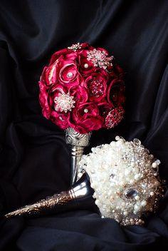 White Wedding Brooch Bouquet, $500.0