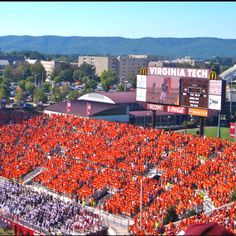 North End Zone - Lane Stadium. Look at that student section!