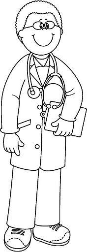 community helpers clipart | Medico - Dibujalia - Dibujos para colorear - Elementos y Objetos del ...