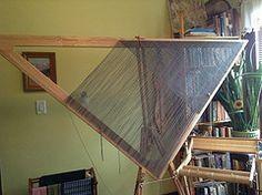 7' triloom shawl (Twill Power) Tags: triangle ridge shawl weaving dewberry triloom