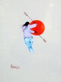 Untitled, Albert Harjo (Muscogee (Creek) medium: TEMPERA ON MATBOARD