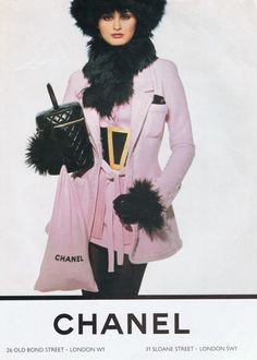 Trish Goff | Photography by Karl Lagerfeld | For Chanel Campaign | Fall 1994