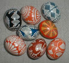 "Andrius Dundzila, they symbolize ""the rebirth of nature, the creation of life, the birth of plants, and rejuvination in general."" There are a variety of customs associated with marguciai. Easter Egg Pattern, Carved Eggs, Egg Tree, Ukrainian Easter Eggs, Egg Designs, Easter Traditions, Easter Holidays, Egg Decorating, Hand Painted"