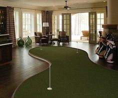 Golf - indoor putting green...but would be super cute on the covered porch area at the parentals new house ;)