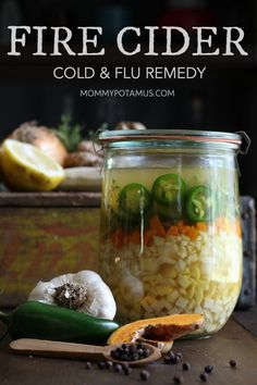 Dragon tonic, dragon cider, Ready for cold and flu season? Fire cider is a delicious way to boost immune function, stimulate digestion and warm up on cold winter days. Flu Remedies, Herbal Remedies, Health Remedies, Sleep Remedies, Bloating Remedies, Holistic Remedies, Kombucha, Natural Home Remedies, Natural Healing