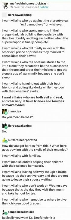 I think it means give depth to ALL your characters, not just the ones you ship or the hero or whatever-the villain, the side character, etc. Dialogue Prompts, Story Prompts, Reddit Writing Prompts, Book Writing Tips, Writing Help, Writing Ideas, Story Inspiration, Writing Inspiration, Story Ideas