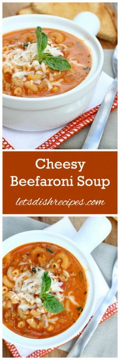 Cheesy Beefaroni Soup Recipe