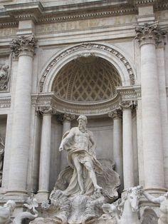 La Fontana di Trevi [Detail, Neptune] - by Nicola Salvi