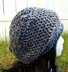 Anchors aweigh! This navy blue and white tweed slouch hat is light weight and good for any season. Available to order @ https://www.facebook.com/hooka.yarn