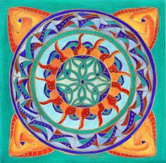 My Original Watercolor Sun Triskele