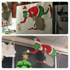 Grinch christmas party invitations get these cards right now diy grinch made out of insulation sheet from home depot painted with acrylic paints then cut solutioingenieria Image collections