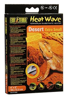 The Exo Terra Heatwave Desert Terrarium Substrate Heater simulates the heated sands of the desert regions. The long hours of daylight combined with the strength of the sun can generate extremely hot...