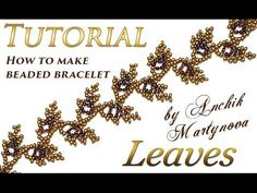 How to make Leaves bracelet with beads (spring, autumn, wedding) - YouTube