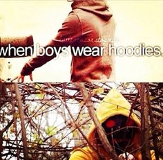 He doesn't wear a hoodie, he IS Hoodie. -So true doe. XD Makes it even cutaaa