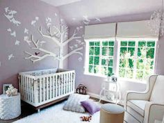 Purple Nursery Jarrett Could Make The Tree Baby Decor