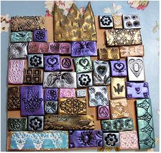 sculpey craft ideas polymer clay tiled mosaic wall handmade by 2889