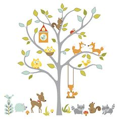 Buy Roommates Woodland Tree Wall Sticker Online at johnlewis.com