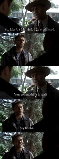 The moment that sealed my love for Dean Winchester... this is the pilot episode. #Supernatural #Funny