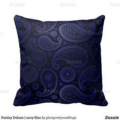 Paisley Deluxe | navy blue Pillows
