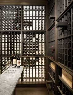 Beautiful textures created by wine racks. by christine