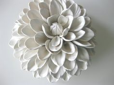 No 5 Dahlia Wall Sculpture by DillyPad on Etsy, $75.00