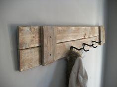 Diy coat hooks wall mounted coat rack farmhouse rustic grey weathered coat rack with 3 hooks . Diy Coat Hooks, Rustic Coat Hooks, Hanging Coat Rack, Coat Hooks Wall Mounted, Coat Hanger, Hat Hooks, Towel Hooks, Rustic Wall Decor, Rustic Walls