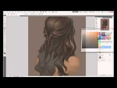Painting hair in Photoshop - YouTube