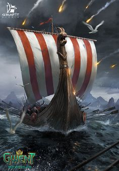 War Longship by Grafit Studio (i.it) submitted by Hvitserkr to /r/Imaginary. The Witcher, Witcher Art, Vikings, Dandelion Wallpaper, Viking Pictures, Bateau Pirate, 3d Wall Murals, Nordic Tattoo, Viking Art