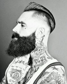 Nicely groomed beard sir. #tattoo #tattoos #ink #beard #moustache #gent #style #urban