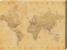 21 best world map images on pinterest worldmap world maps and generic vintage world map maps giant poster print college giant poster print gumiabroncs Choice Image