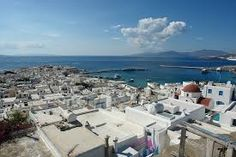 Mykonos from above