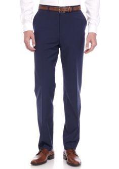 Crown  Ivy  Blue Slim-Fit Navy Stretch Suit Pant